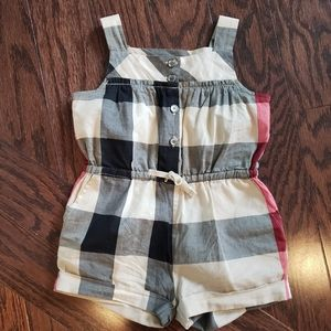Burberry (authentic) plaid baby romper 6m